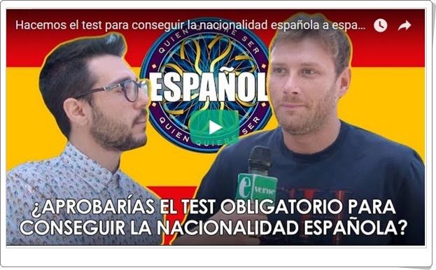 """""""¿Aprobarías el test obligatorio para conseguir la nacionalidad española?"""" (Test de Cultura General)"""
