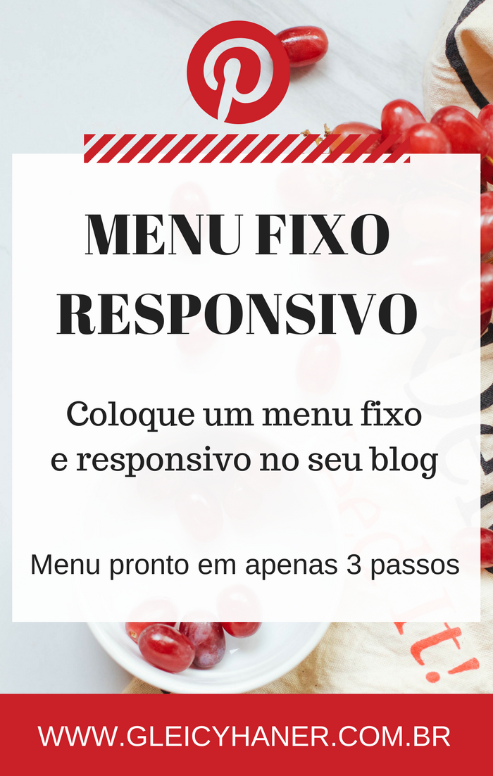 Menu fixo no topo do blog responsivo