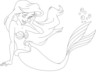 pretty mermaids coloring pages - photo#22