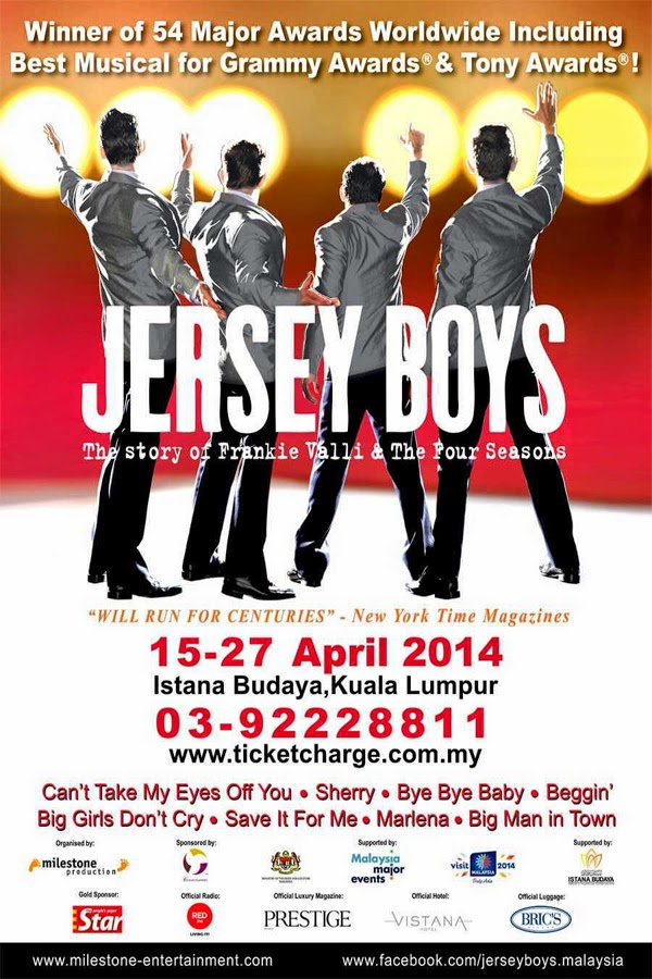 Jersey Boys Musical Poster for Kuala Lumpur
