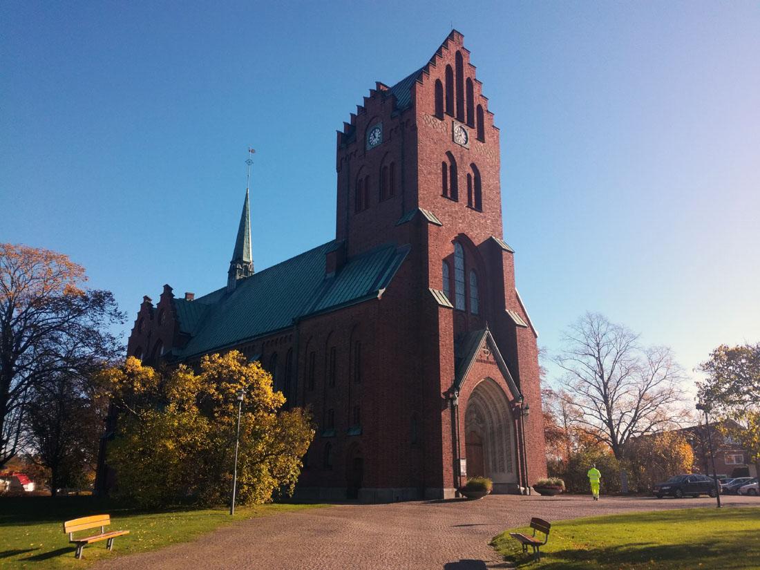 La chiesa di Hässleholm, ieri 30 ottobre 2017