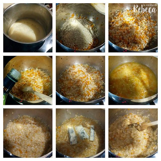 Receta de risotto de calabaza y gorgonzola con vieiras 02