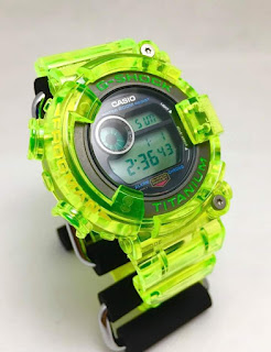 G-Shock Frogman 1st DW8200 Dive Watch Green LCD digit fitted Custom