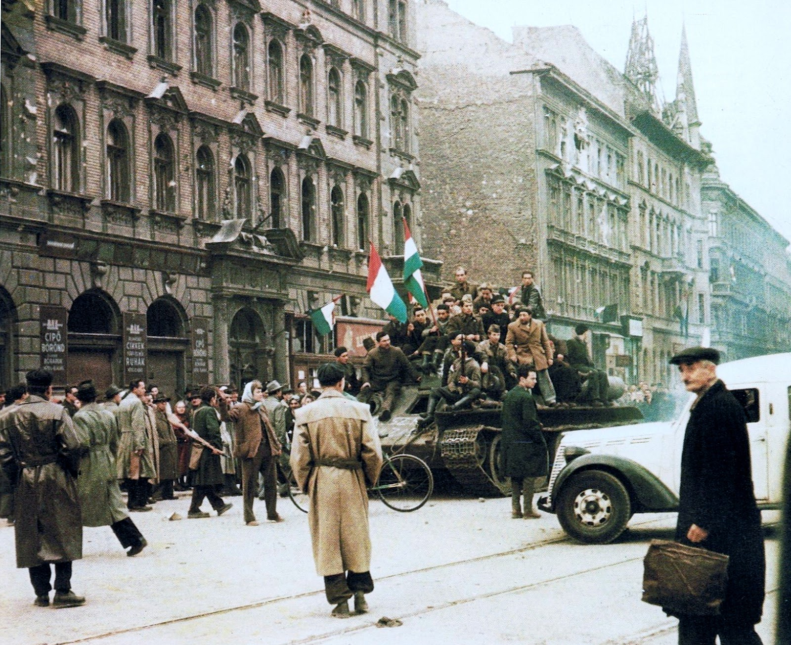the 1956 hungarian revolution English: the hungarian revolution of 1956, a spontaneous revolt from 23 october to 10 november, began as a student demonstration which quickly attracted thousands of.