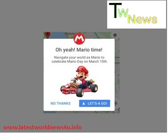 Mario ride option in Andriod Google Maps app update