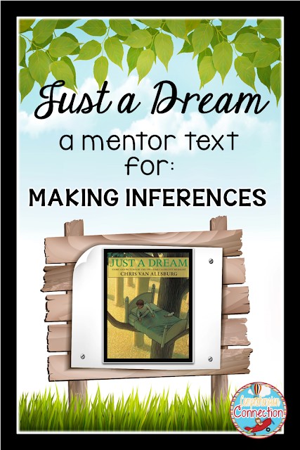Celebrate Earth Day with this Spring mentor text lesson for making inferences. Just a Dream by Chris VanAllsburg is featured in this lesson.