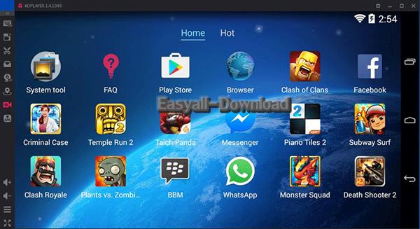 KOPLAYER 1.4.1055 Android Emulator โปรแกรมจำลอง Android บน PC