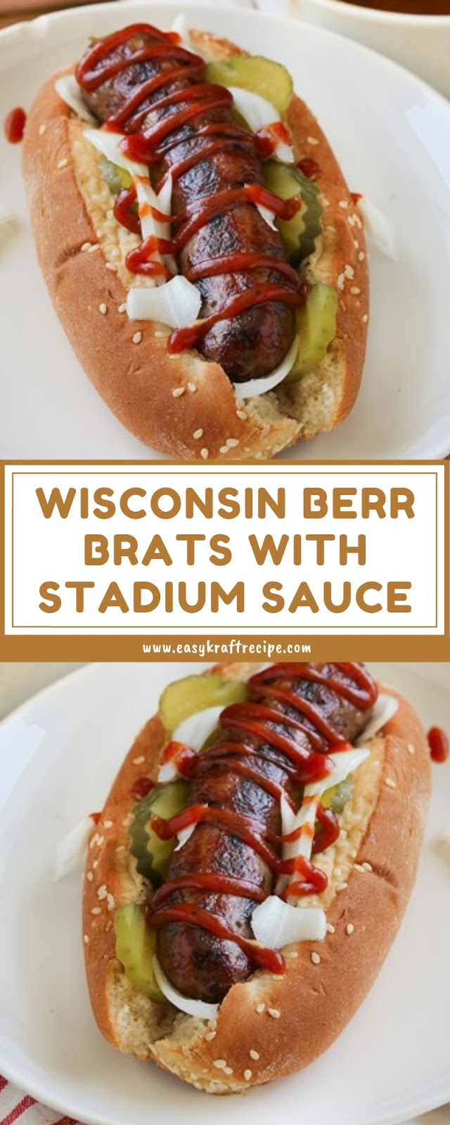 WISCONSIN BERR BRATS WITH STADIUM SAUCE