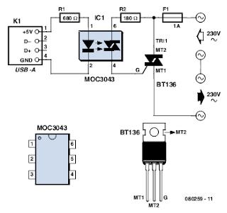 USB Standby Killer Circuits Diagram