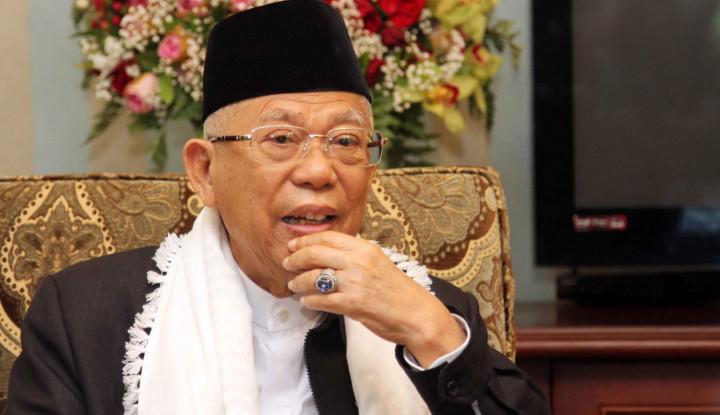 Ma'ruf Sebut Dirinya dan Jokowi Harus Menang Pilpres, Ini Alasannya