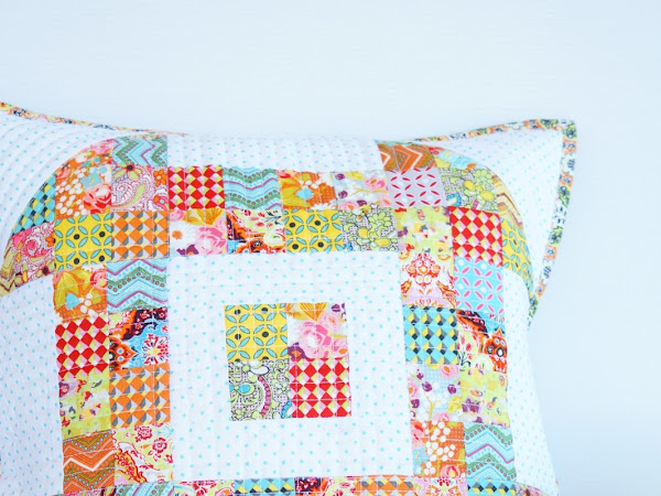 Scrappy Churn Pillow featuring Bittersweet Fabric (TUTORIAL)