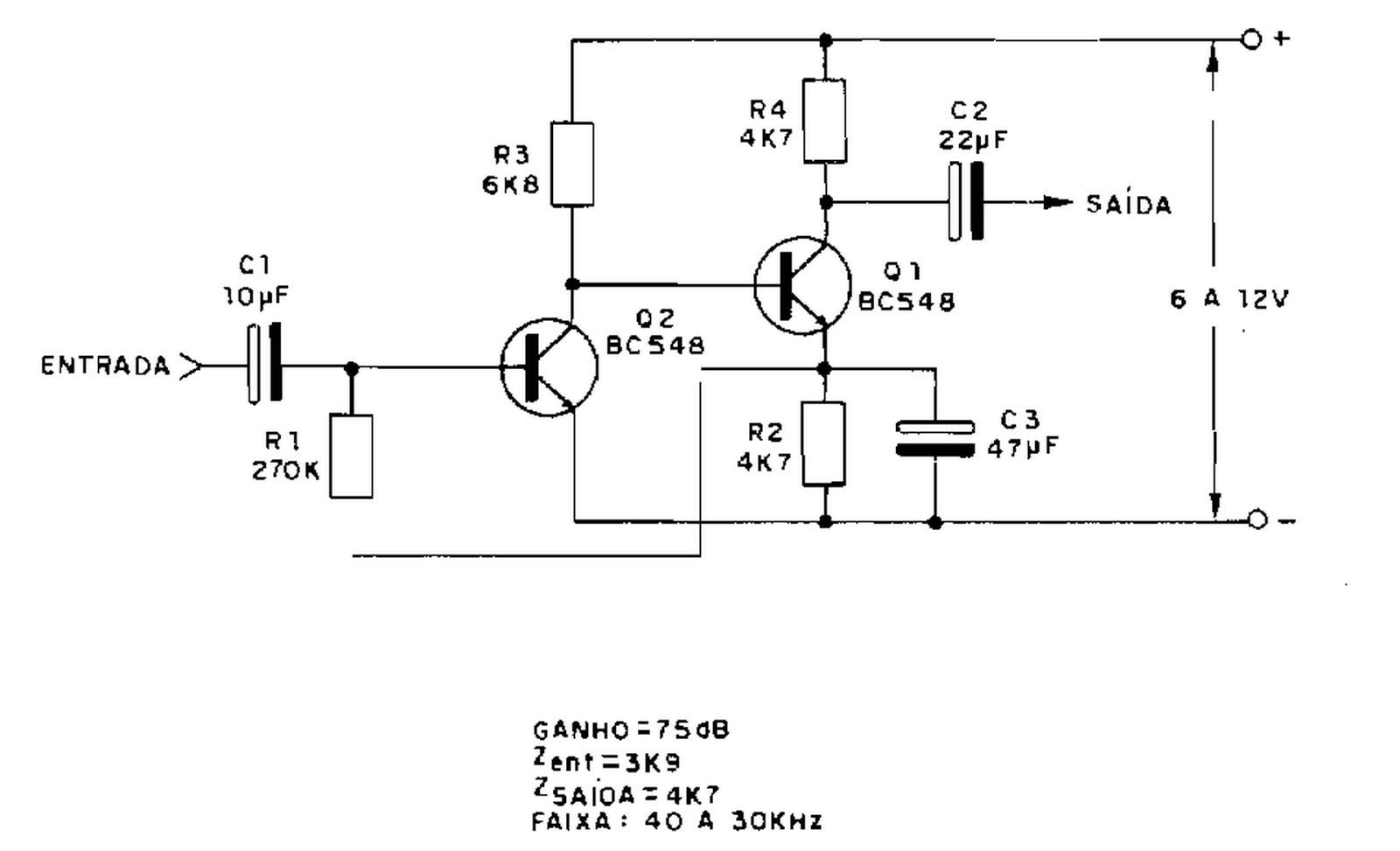 Eletronica Geral Etapa De Audio Com 2 Transistores