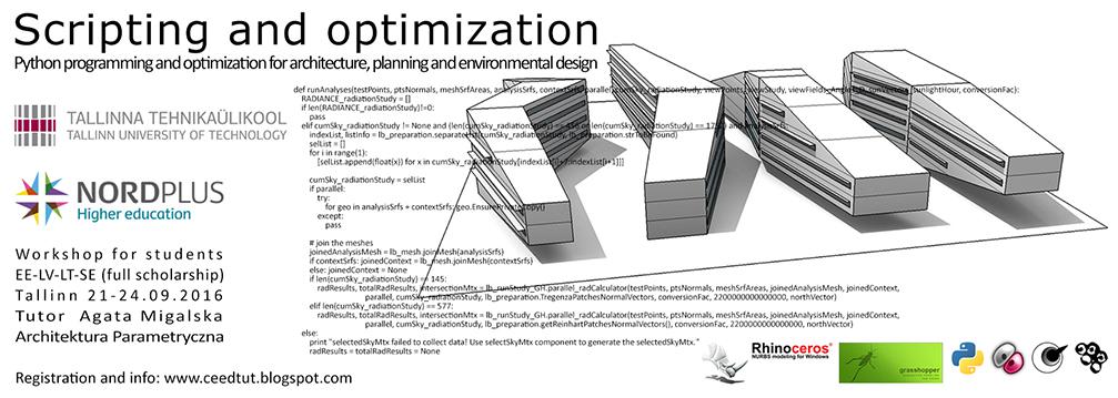 Computational Environmental and Energy Design: Workshop Scripting