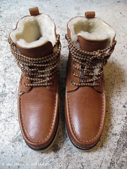 Fourrées Réflexion Cuir Pointer Matières Boots À L'atelier Homme TcuK3l1JF
