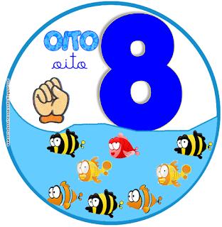 sinais de libras de número ilustrado