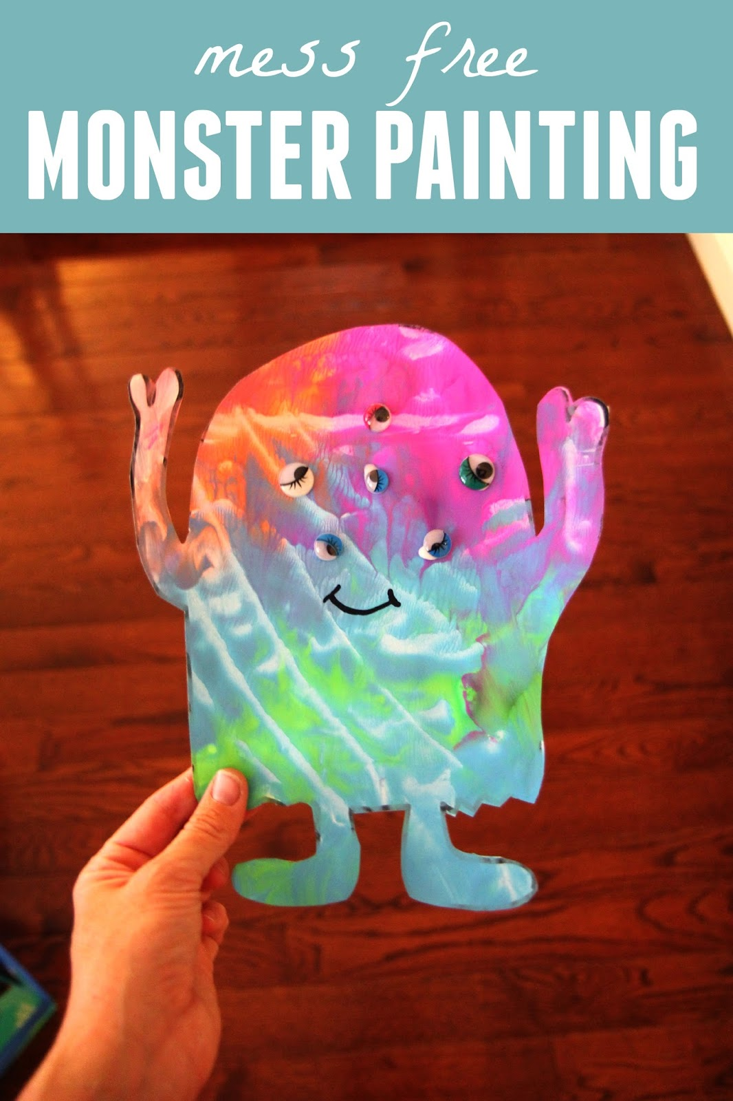 Toddler Approved Mess Free Monster Painting