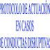 Protocolo de actuación ante conductas disruptivas