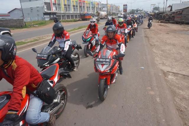 Touring Perdana All New Honda CBR 250RR di Sumatera Selatan