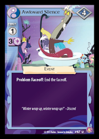 My Little Pony Awkward Silence Absolute Discord CCG Card