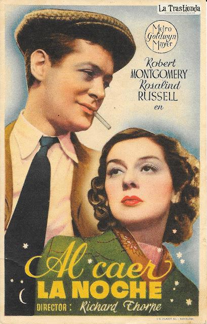 Al Caer la Noche - Programa de Cine - Robert Montgomery - Rosalind Russell