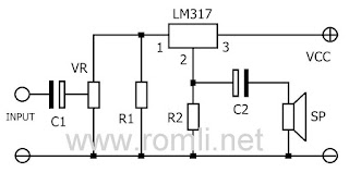 Amplifier mini dengan IC LM317