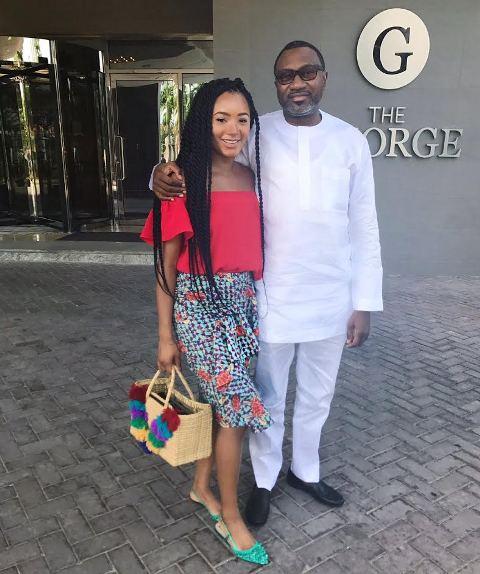 Fashion blogger Temi Otedola spends time with her billionaire dad, Femi Otetola