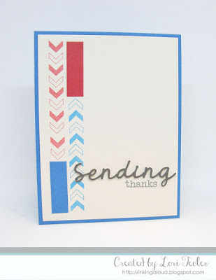 Sending Thanks card-designed by Lori Tecler/Inking Aloud-stamps from SugarPea Designs