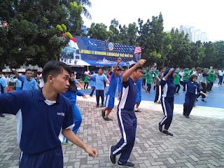 Latihan Senam Gemu Famire di Lantamal III
