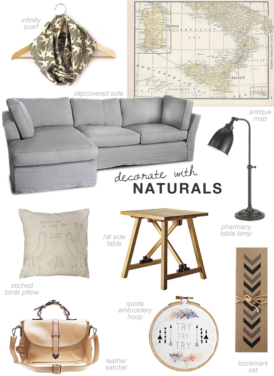 Decorate with naturals shopping inspiration by My Paradissi #naturals #shopping
