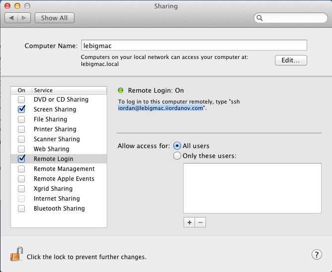 Securely control a remote Mac with two pieces of free software
