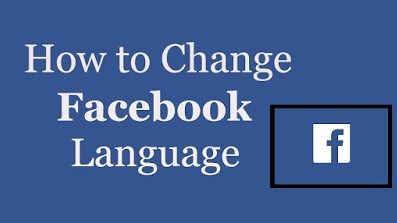 how to change the language in facebook