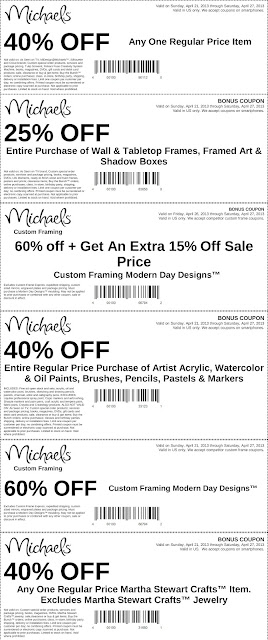 Michaels Coupons In Store Charleston Coupons