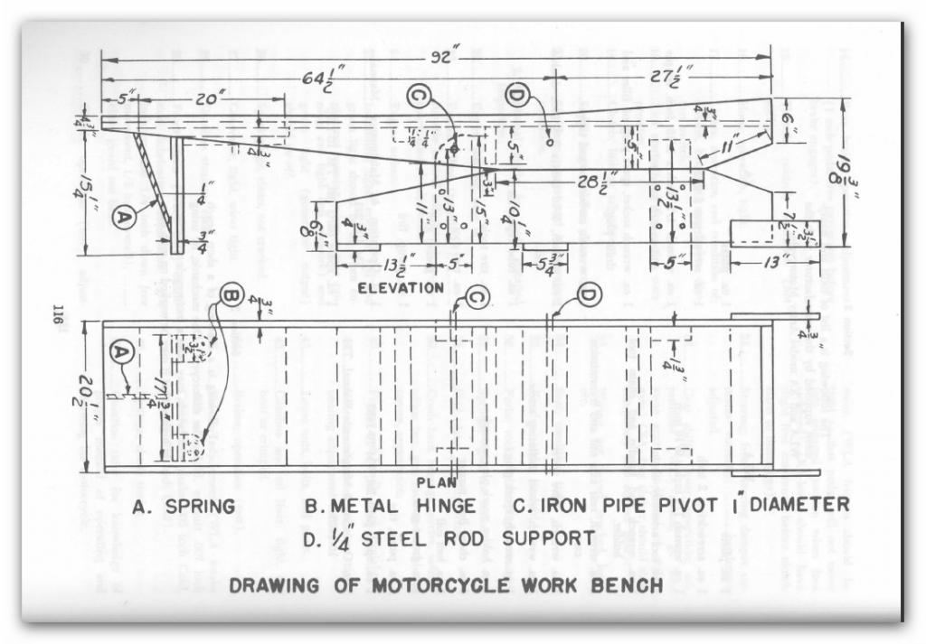 Wooden Lift Table Plans From An Old Army Manual