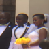 Chaos as jilted wife storms ex-husband's wedding with their children (Photos)
