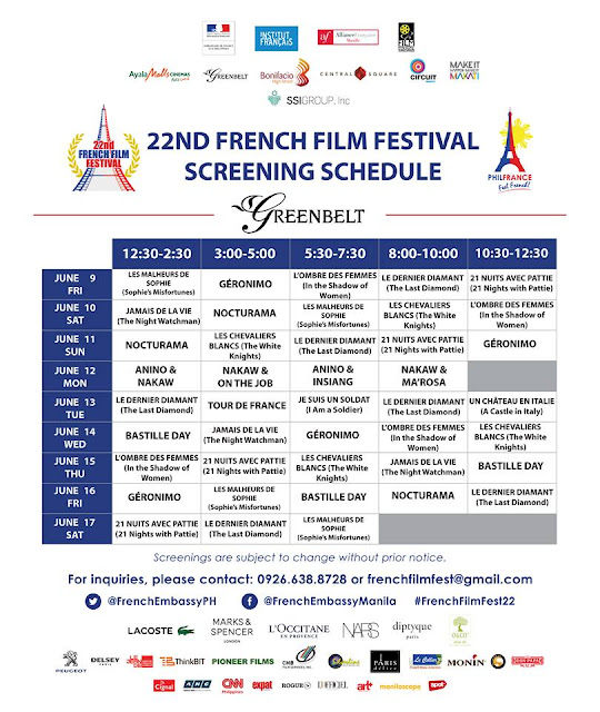 22nd French Film Festival - Greenbelt 3
