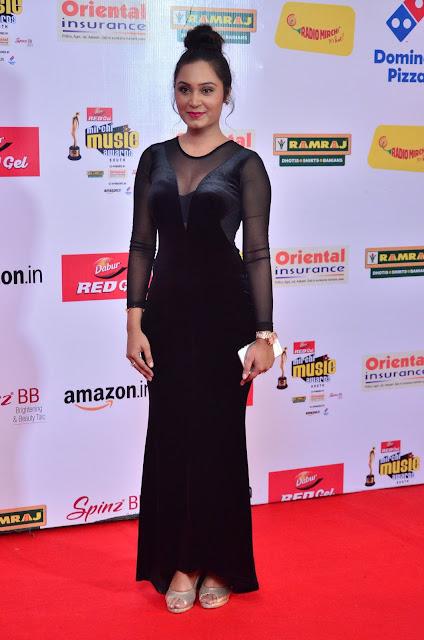 Actress Venila at Mirchi Music Awards South 2017