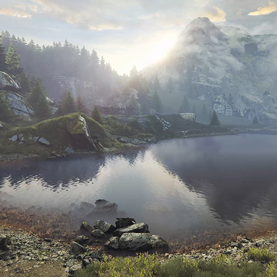 Mountain Lake Wallpaper Engine