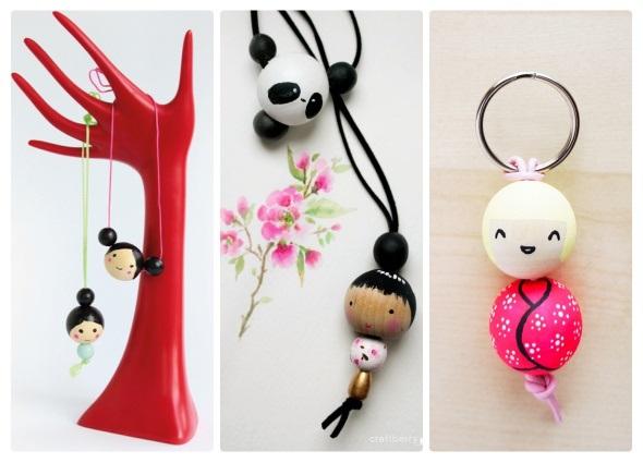 caras bolas de madera, muñequitos dolls beads, manualidades infantiles