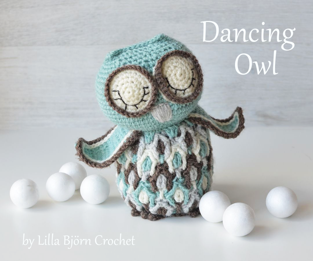 Dancing Owl - ovelrlay crochet pattern by LillaBjornCrochet