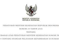 Permenkes No. 34 Tahun 2016 Tentang Standar Pelayanan Kefarmasian Di Rumah Sakit