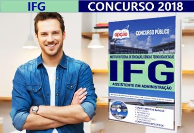 Concurso IFG 2018 Assistente em Administração - impressa e digital