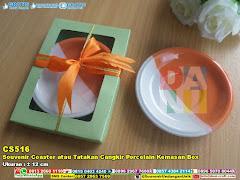 Souvenir Coaster Atau Tatakan Cangkir Porcelain Kemasan Box