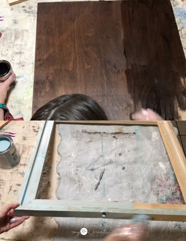 staining board and frame