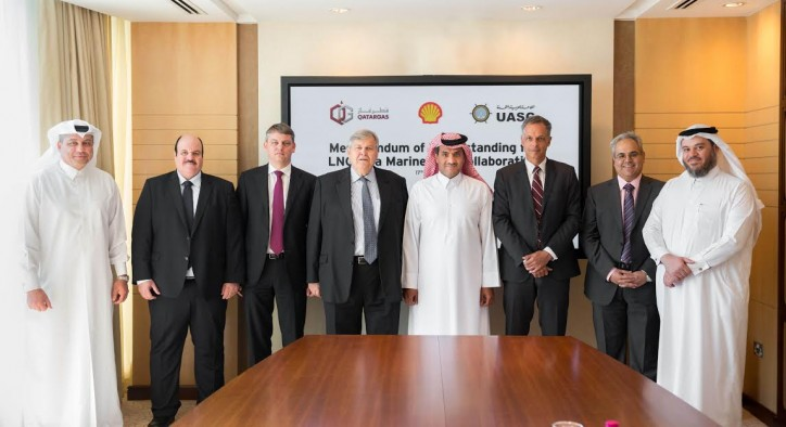 Qatargas, Shell and UASC sign MOU to explore the development of LNG as a marine fuel in the Middle East region