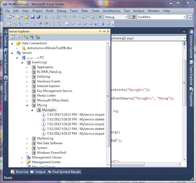Milinda Pro: Create Window service project in C# - Part 3 (Using