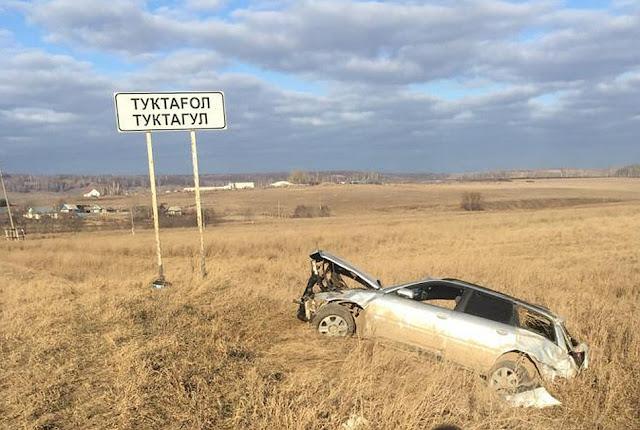 В Башкирии Audi A4 вылетела с дороги: погиб водитель