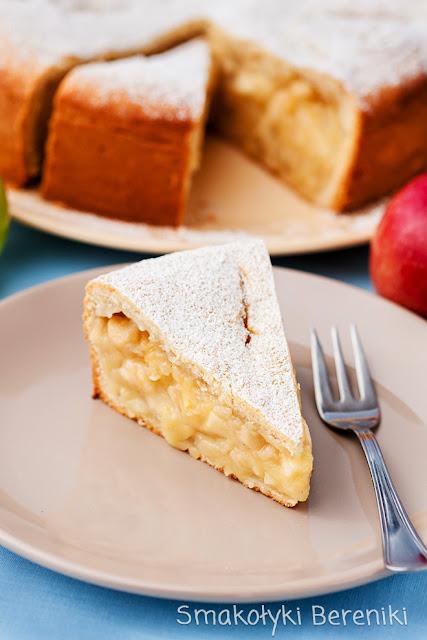 Ciasto z jabłkami na kefirze (bez jajek)