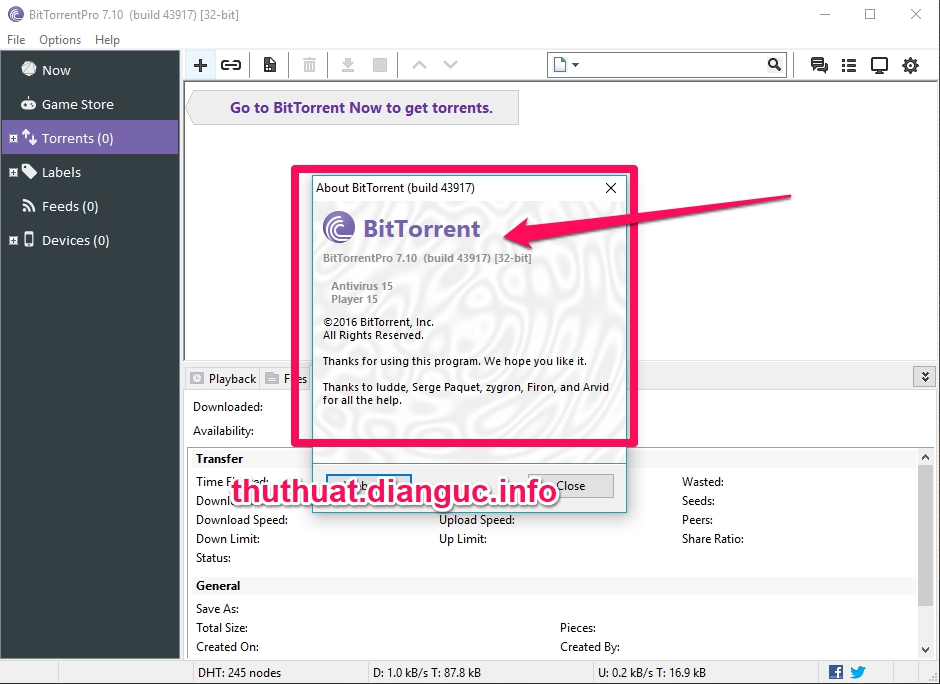 Download BitTorrent PRO 7.10.0.Build.43917 Full Crack – Phần mềm tải link torrent
