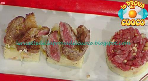 Bistecca cotta e cruda ricetta Giunta da Prova del Cuoco