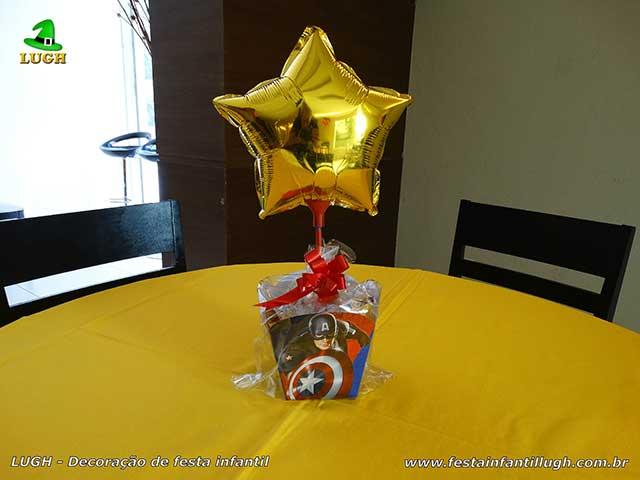 Enfeites de centro de mesa para festa infantil Os Vingadores